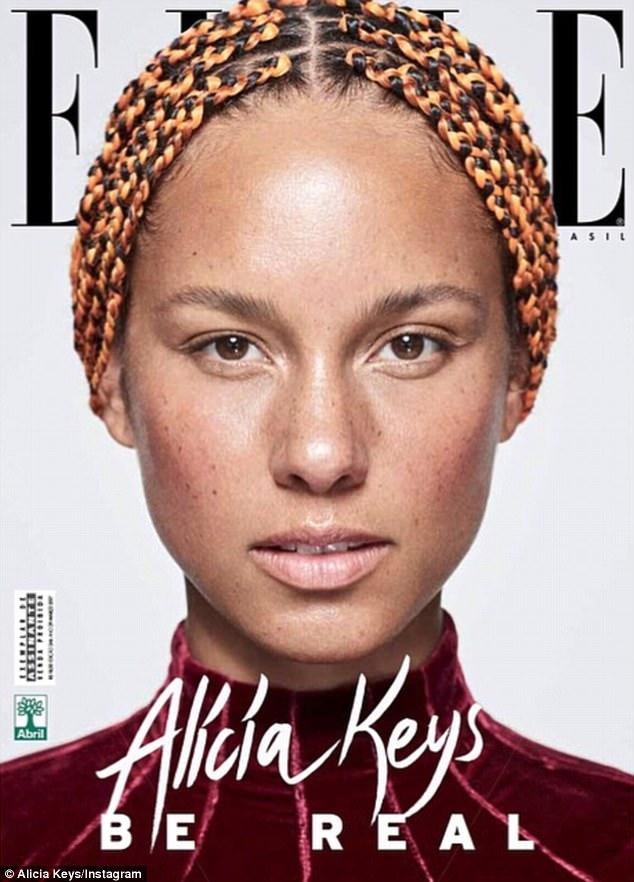 Alicia Keys sulla copertina di Elle Brazil