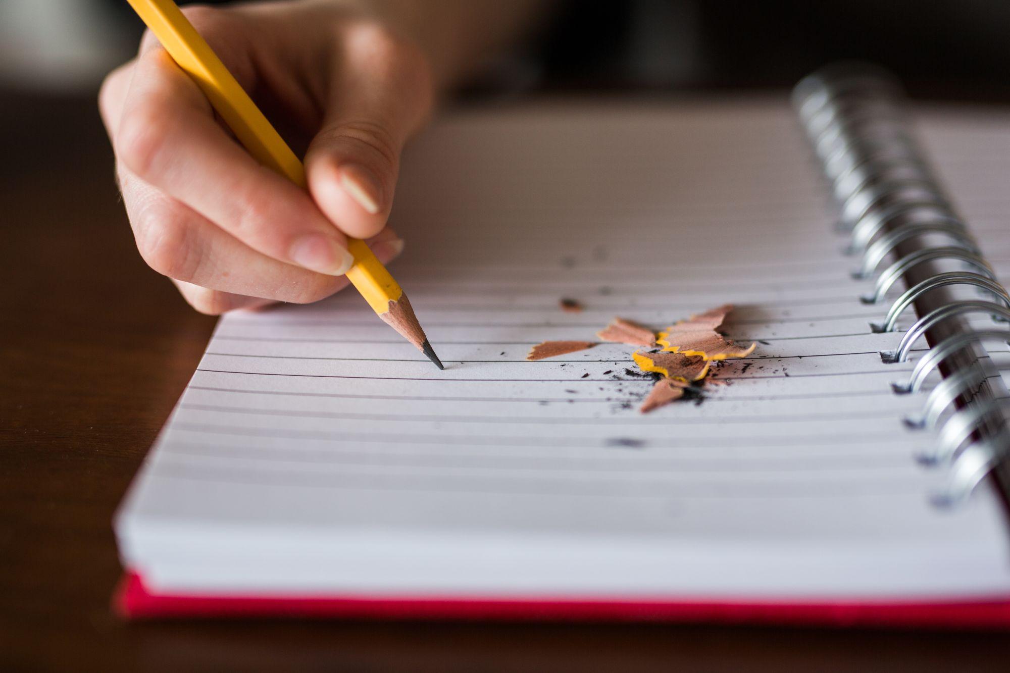 Scrivere a mano su un diario