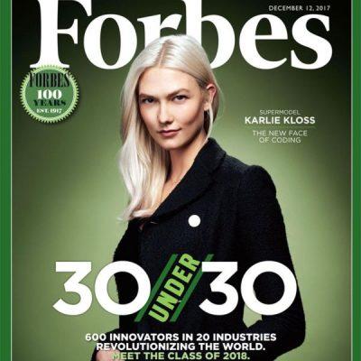 Karlie Kloss sulla copertina di Forbes è l'under 30 più influente