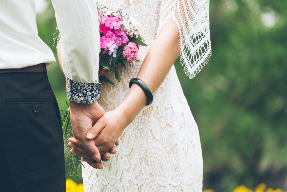 Matrimonio, due sposi felici