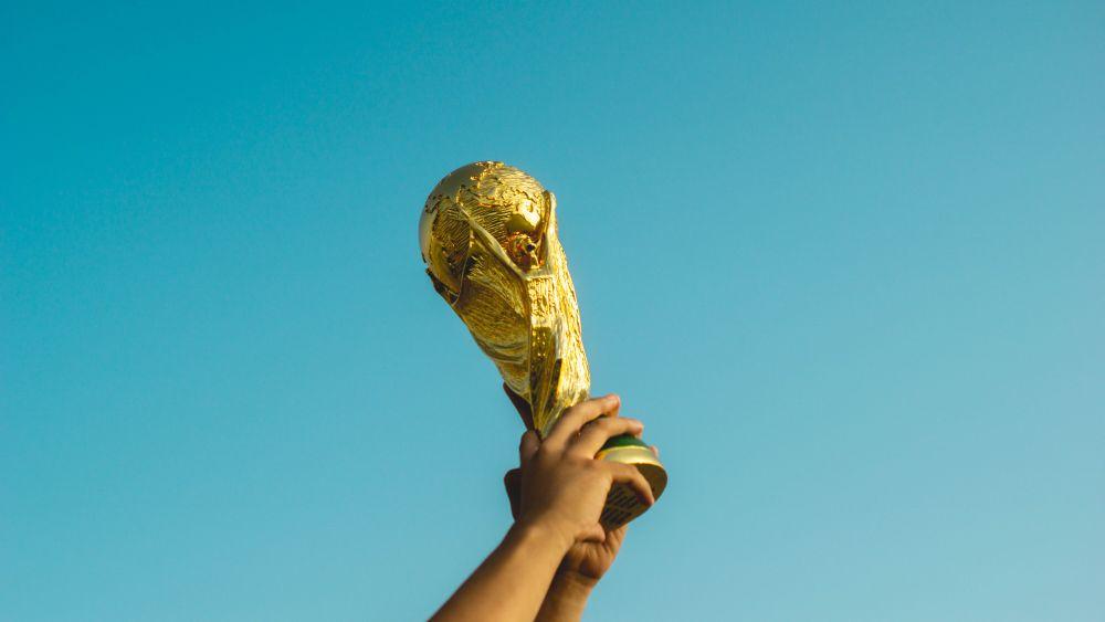 Calcio, un dettaglio della Coppa del Mondo