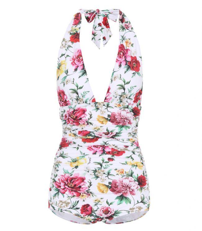 Costumi da bagno, un modello floreale vintage
