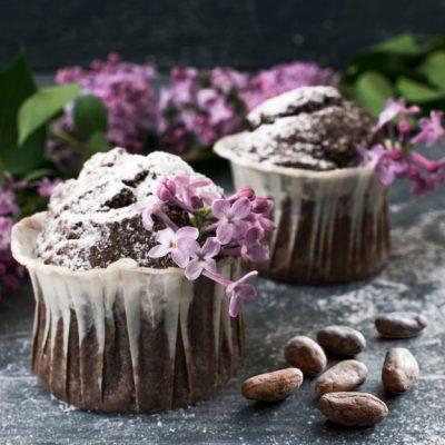 Muffin anti age al cacao crudo e mango