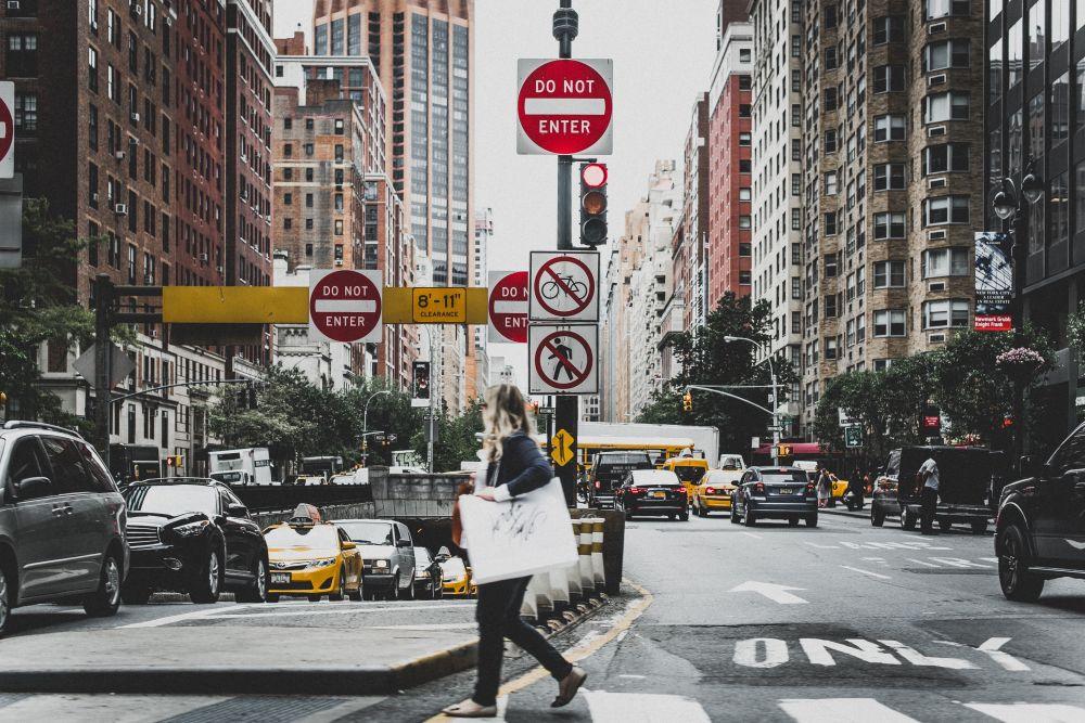 New York, un dettaglio del traffico cittadino