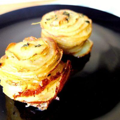 Tortini di patate al timo, il contorno buono e bello